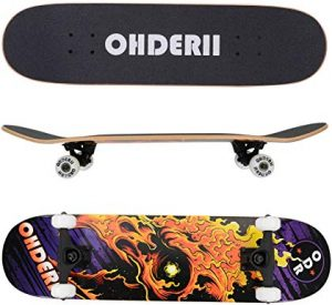 OHDERII Skate Skateboards 31 Inch By 8 Inch Skateboard