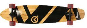 Super Cruiser Artisan Bamboo Longboard Skateboard (44-Inch)